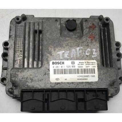 ECU Renault Trafic, Nissan Primastar, Opel Vivaro 1.9DCI - Bosch 0 281 011 529, 0281011529, HOM 8200051608, 8200546983, 1039S10914