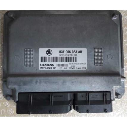 ECU Skoda Fabia 1.2 - Siemens Simos 3PG, 5WP44223 02, 5WP4422302, 03E906033AB, 03E 906 033 AB
