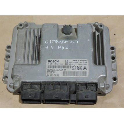 ECU Citroen C3, Peugeot 207, 1.4HDI - Bosch 0 281 012 529, 0281012529, EDC16C34, 96 634 758 80, 9663475880