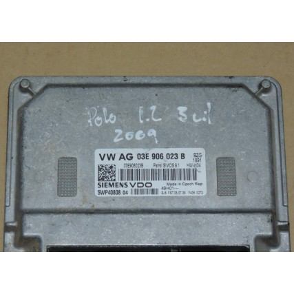 ECU Volkswagen Polo 1.2 - Siemens VDO 5WP40808 04, 5WP4080804, 03E 906 023 B, 03E906023B