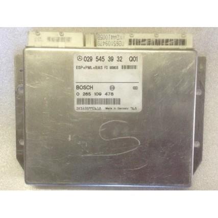 ESP + BAS Mercedes S - Bosch 0 265 109 478, 0265109478, 029 545 39 32 Q01, 0295453932 Q01